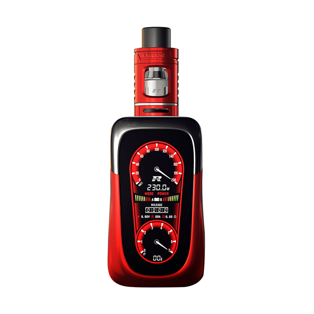 REV GTS V2 230W TC MOD Kit with Drift Tank(Red, 2ml With Warnings)